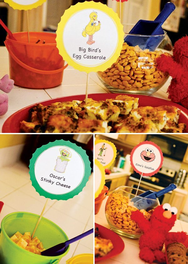 elmo and big bird party food