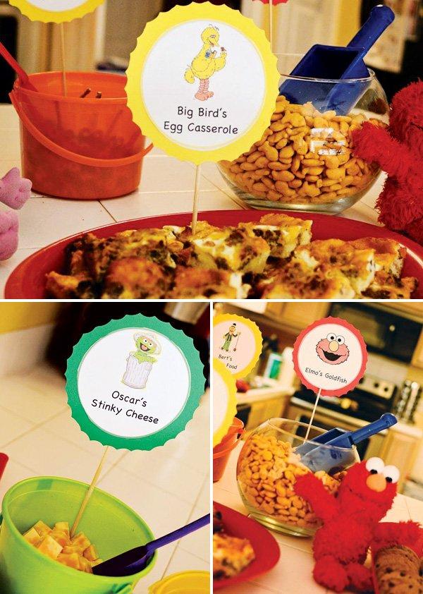 elmo and big bird party food