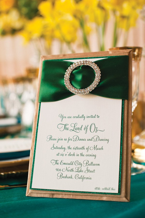 emerald city invitation
