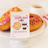 free donut and coffee printables for valentine's day from hwtm