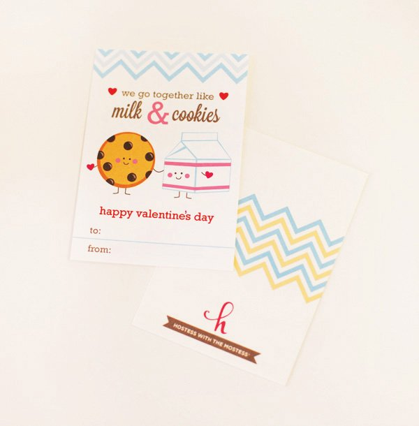 free milk and cookie printables for valentines day