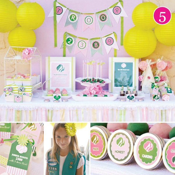girl scout dessert table