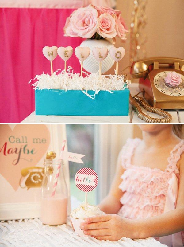 pink hello cake pops