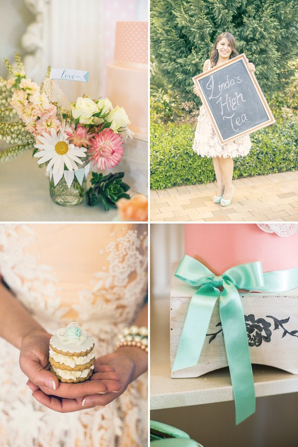 vintage high tea bridal shower