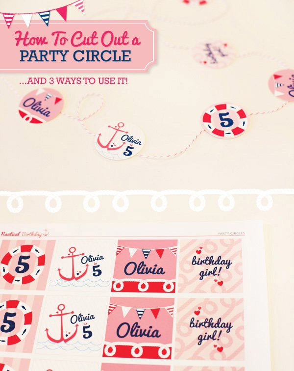 how to cut out a party circle