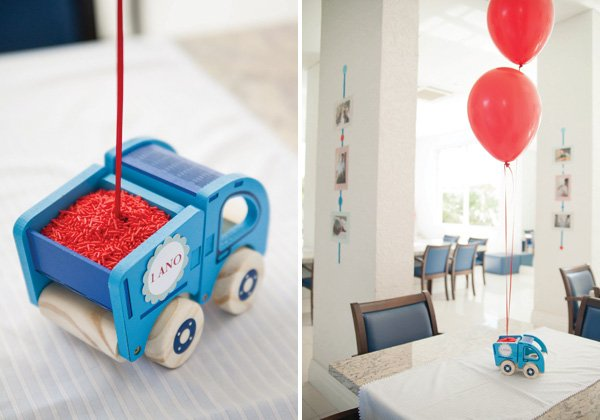 little blue truck centerpiece