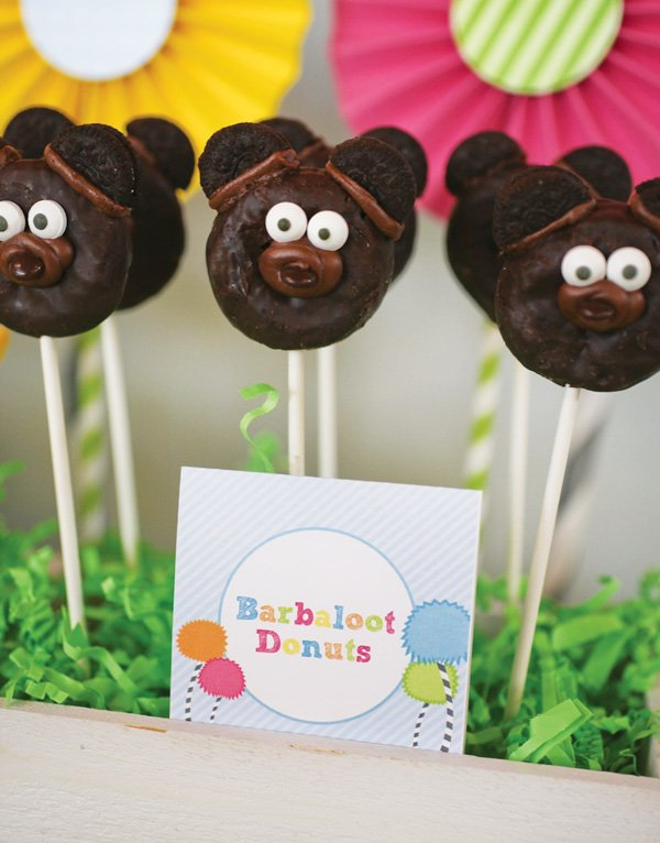 lorax themed party with barbaloot donuts