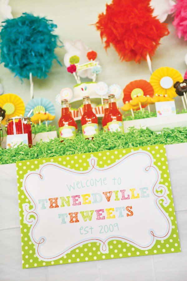 lorax thneeds dessert table