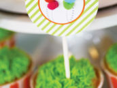 lorax themed truffula tree cupcake toppers