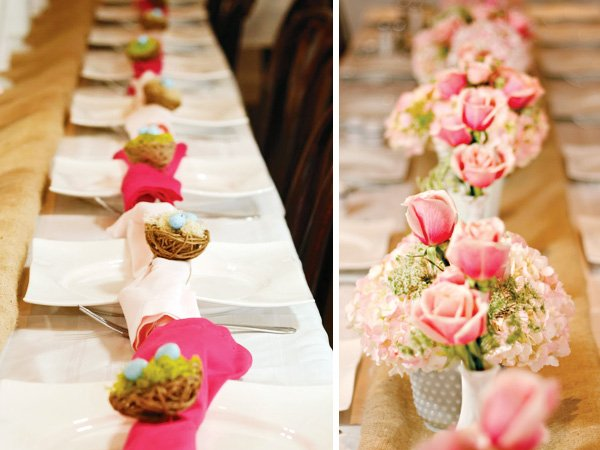 milk glass floral centerpieces