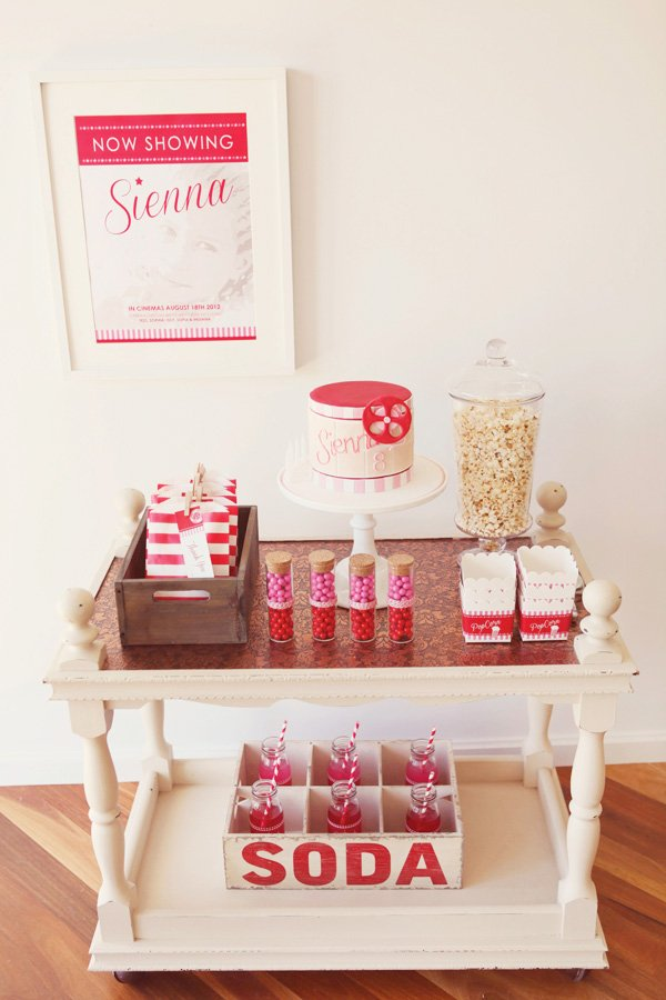movie theater party snack table