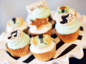 music note and guitar cupcake toppers