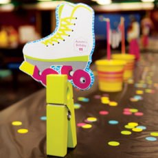 neon roller skating party ideas