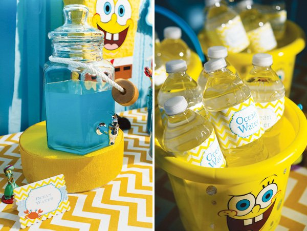 Spongebob Squarepants Ocean Water Birthday Party