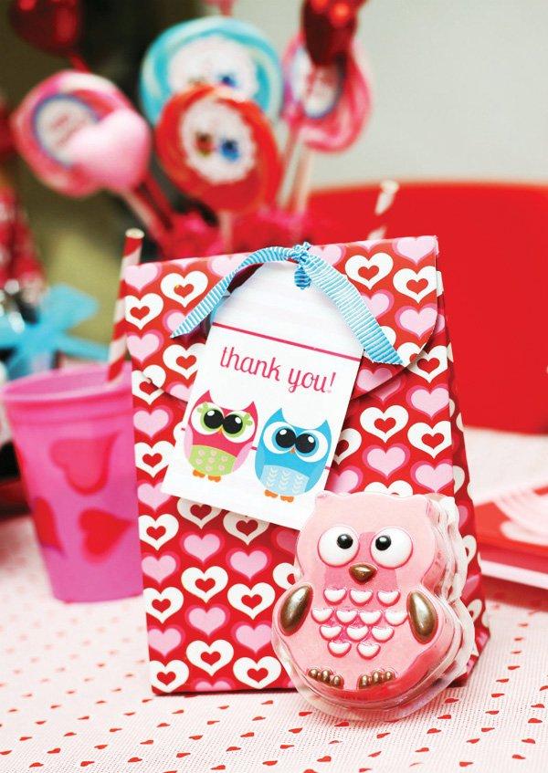 owl valentine favors