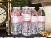 "Pink ""Drink Me"" Water Bottles"