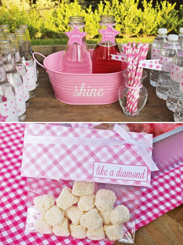 pink gingham decorations