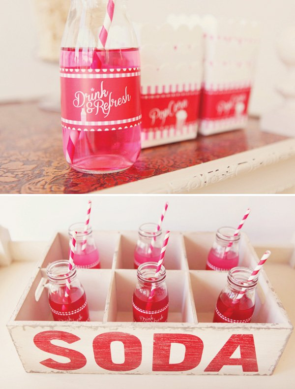 Pink and red party drinks