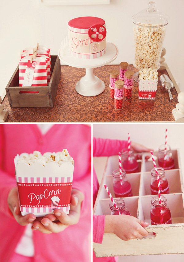 Girly pink movie party
