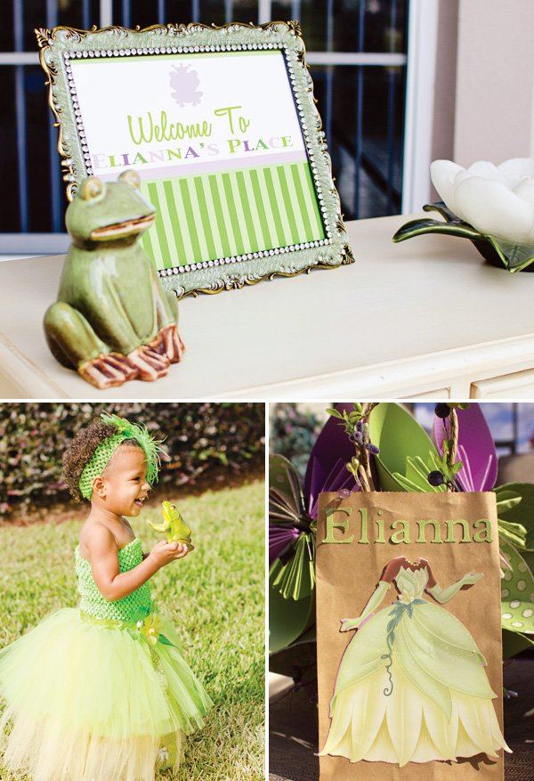 princess birthday girl outfit and favor bags