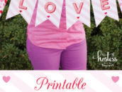 printable love banner from hwtm