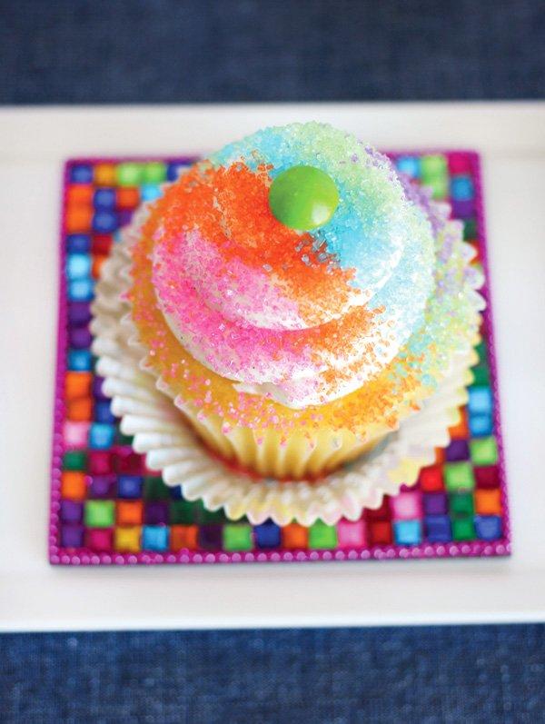 rainbow sprinkle cupcake