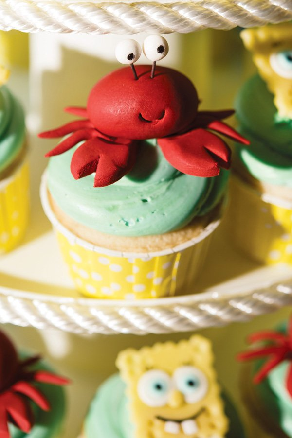 red crab cupcake toppers