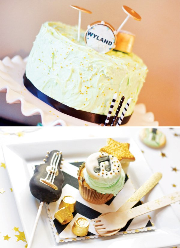 rockstar party cake