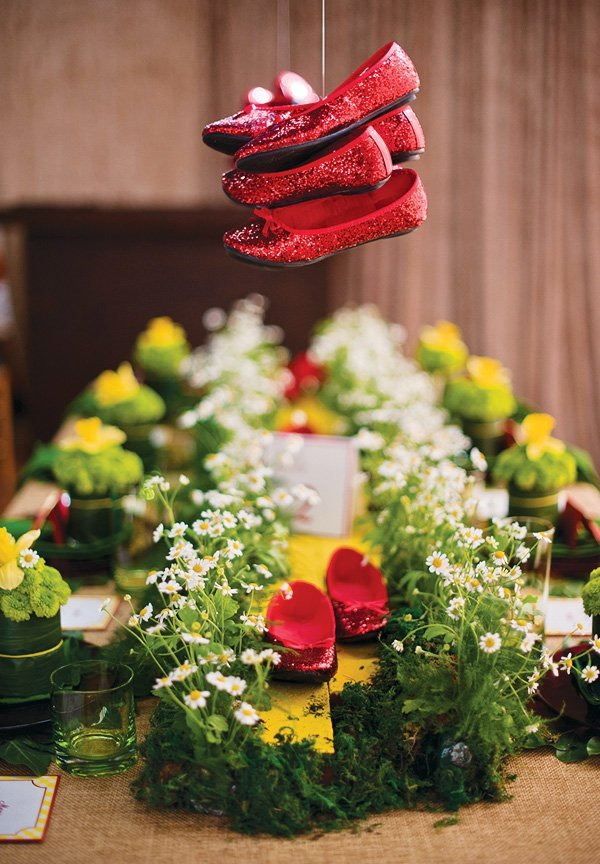 wizard of oz party inspiration from dorothy's ruby red slippers