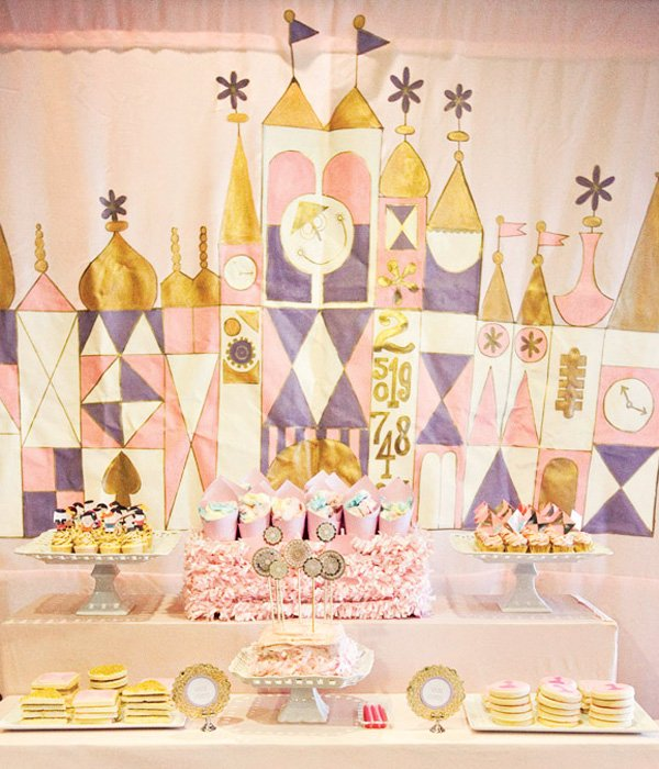 it's a small world theme dessert table