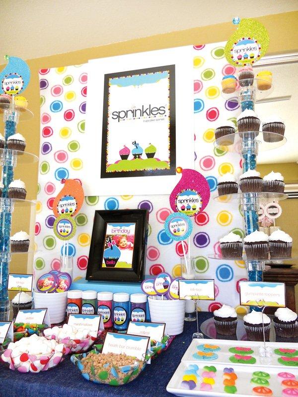 sprinkles cupcake decorating bar