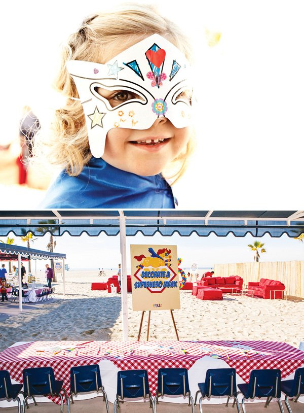 superhero mask decorating activity for kids