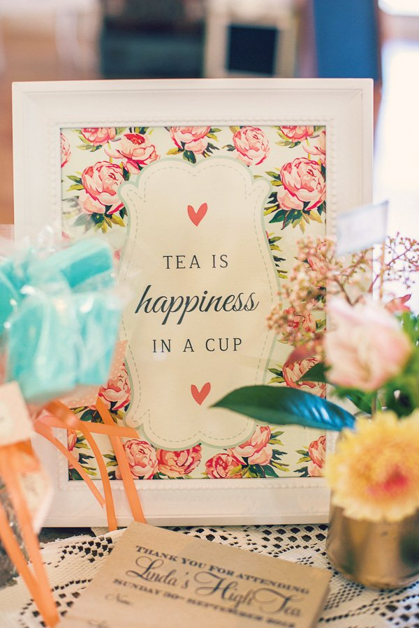 tea is happiness in a cup