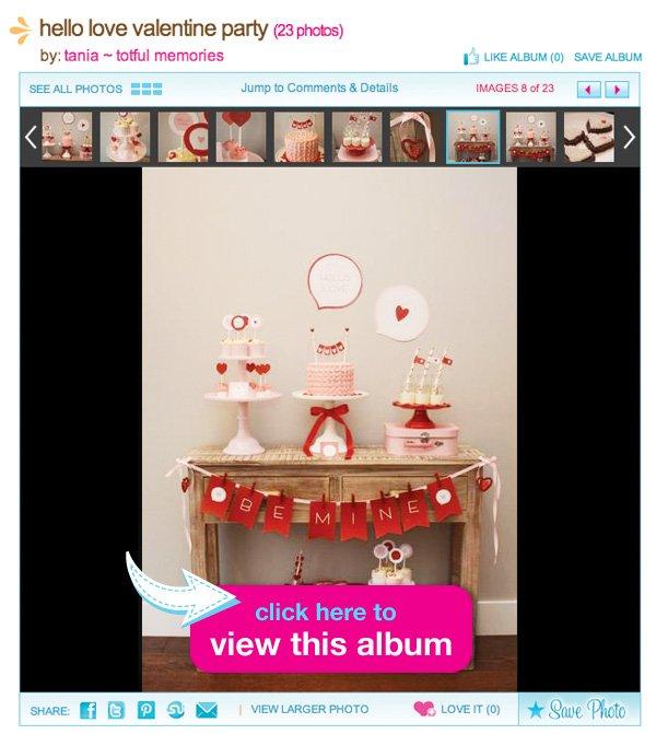 valentine dessert table