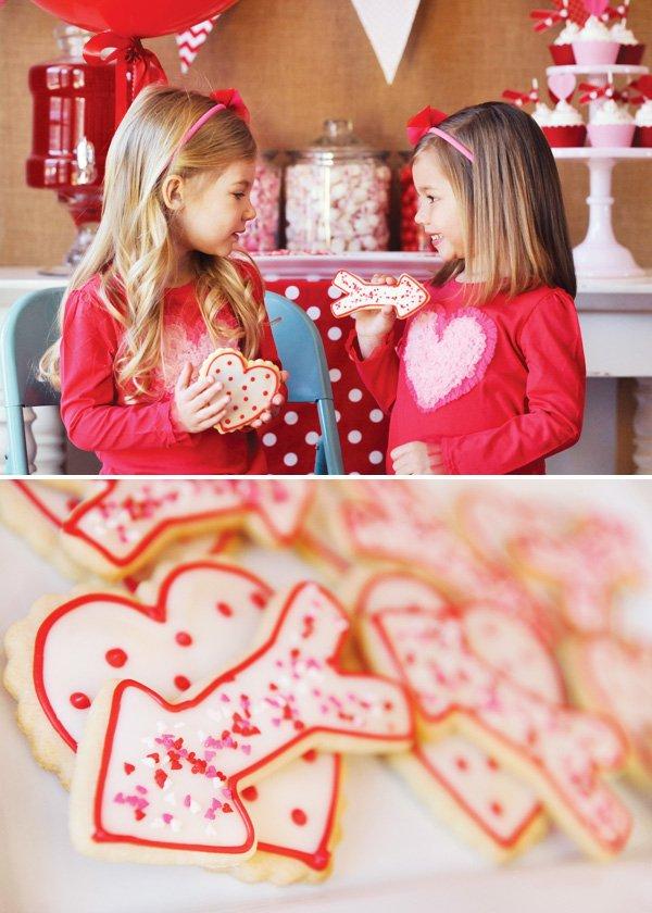 valentine party cookies