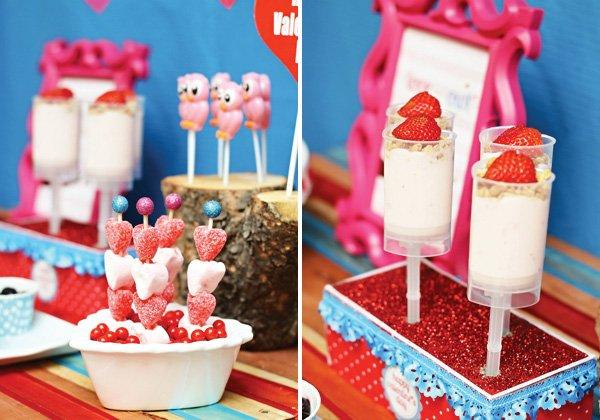 valentine yogurt parfaits