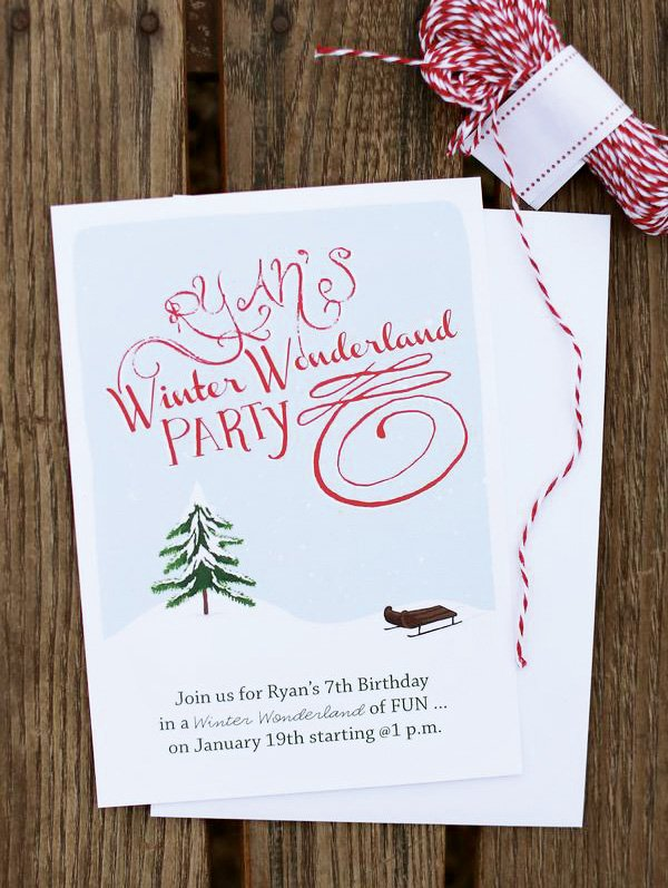 winter wonderland invitation