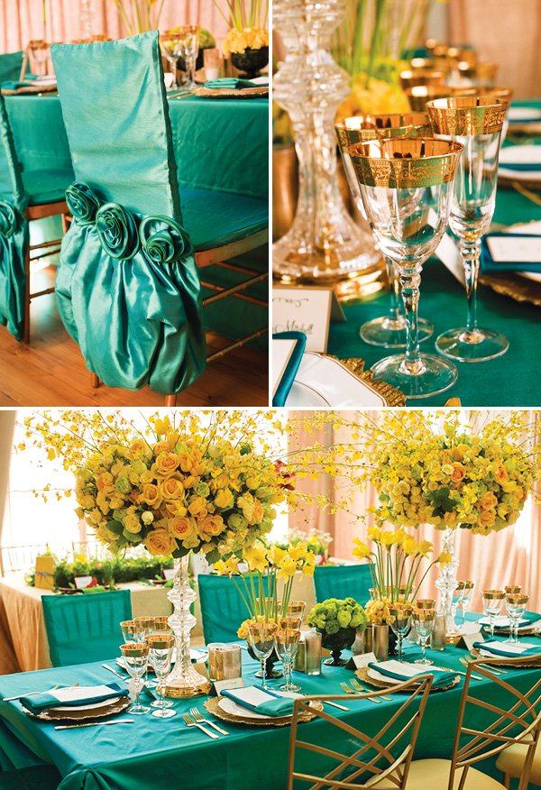 wizard of oz emerald city inspired tablescape
