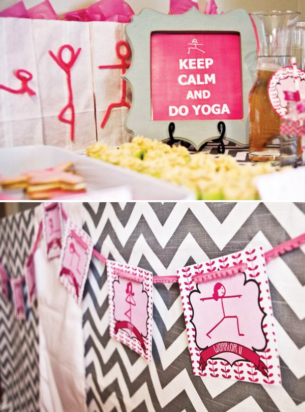yoga party ideas