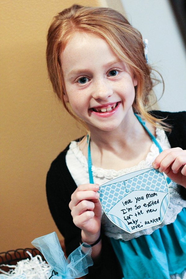 Baby shower diaper wish tags