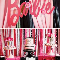barbie dessert table