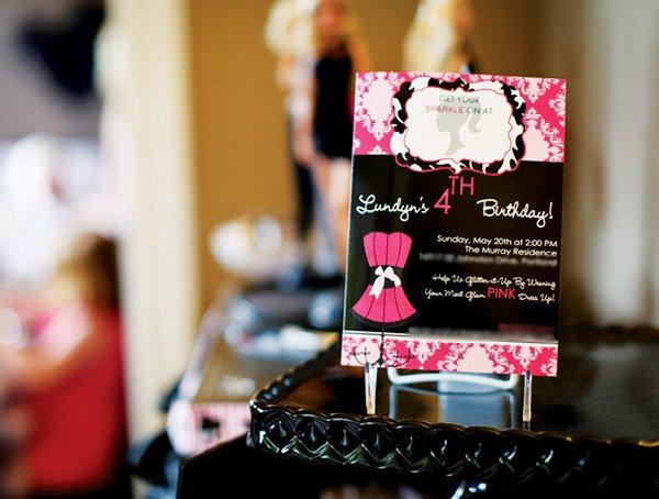 barbie party invitiation