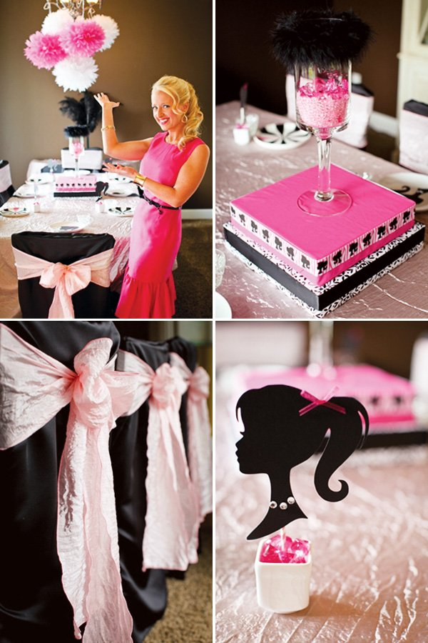 barbie tablescape