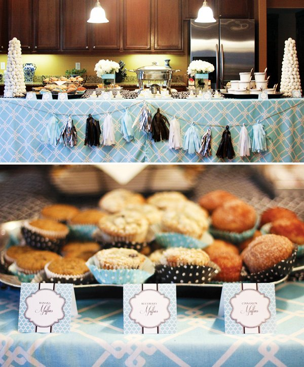 glamorous breakfast at tiffany 39 s baby shower hostess with the