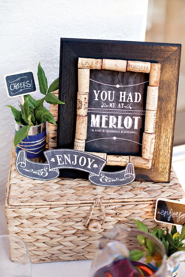 chalkboard wine sign free printables from hwtm
