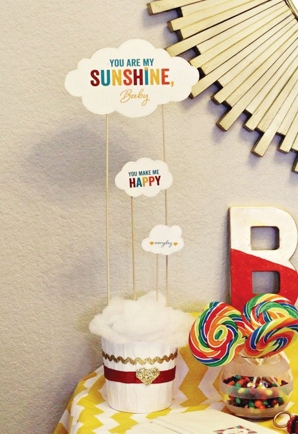 cloud baby shower decorations