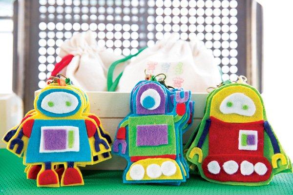 diy felt robot toys