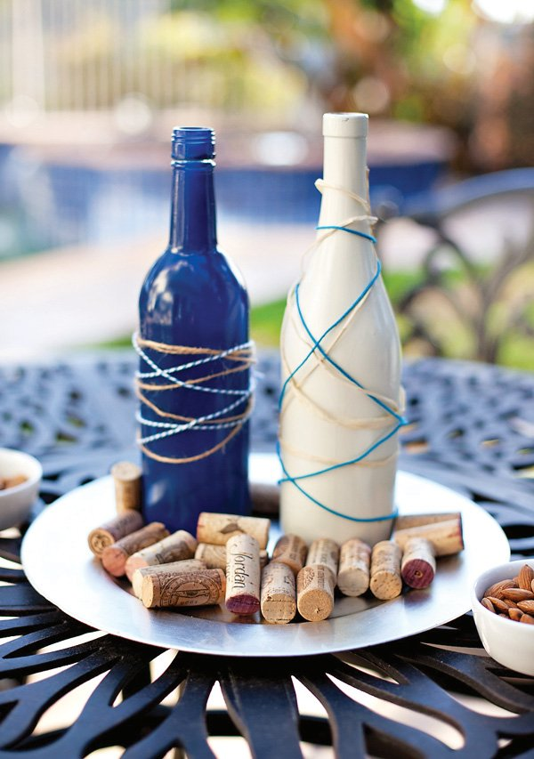 diy painted wine bottles