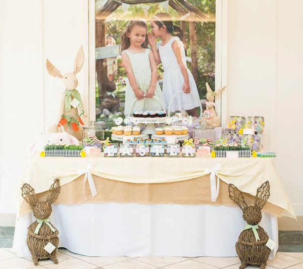 easter dessert table for a mall event