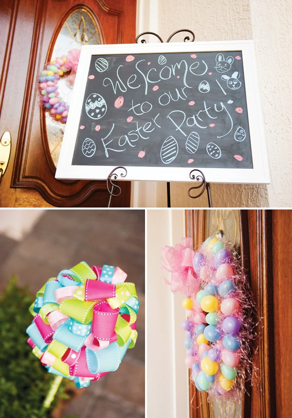 easter party welcome sign
